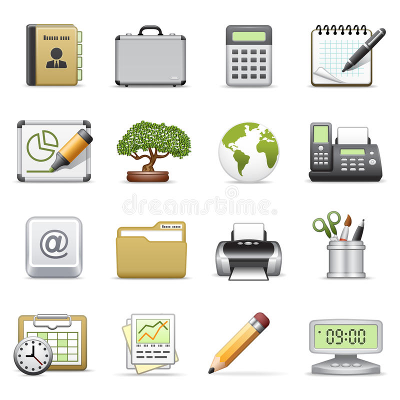 Business Icons, Set 2. Royalty Free Stock Photo