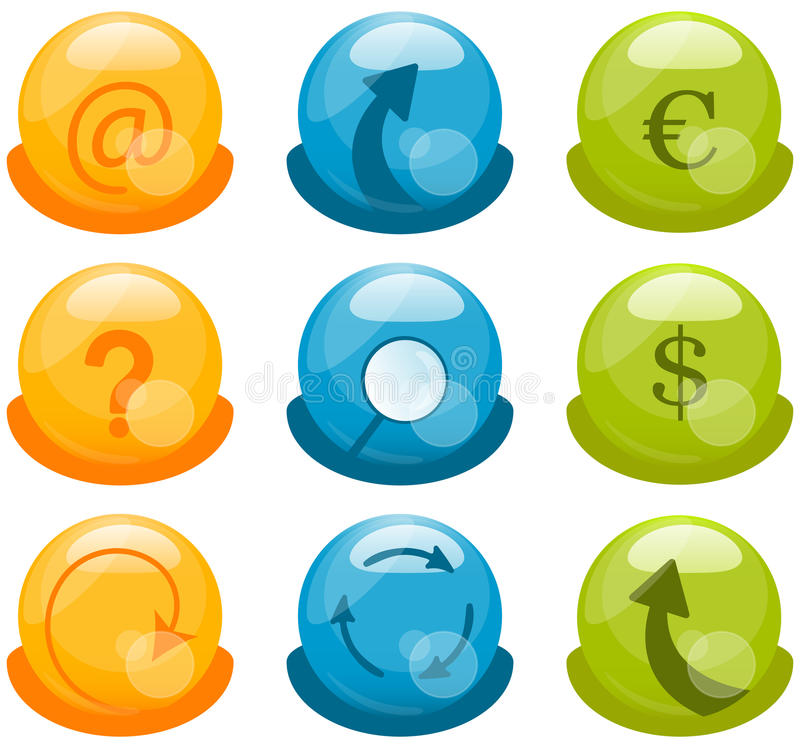 Download Business Icons Set stock vector. Image of label, bright - 25905741