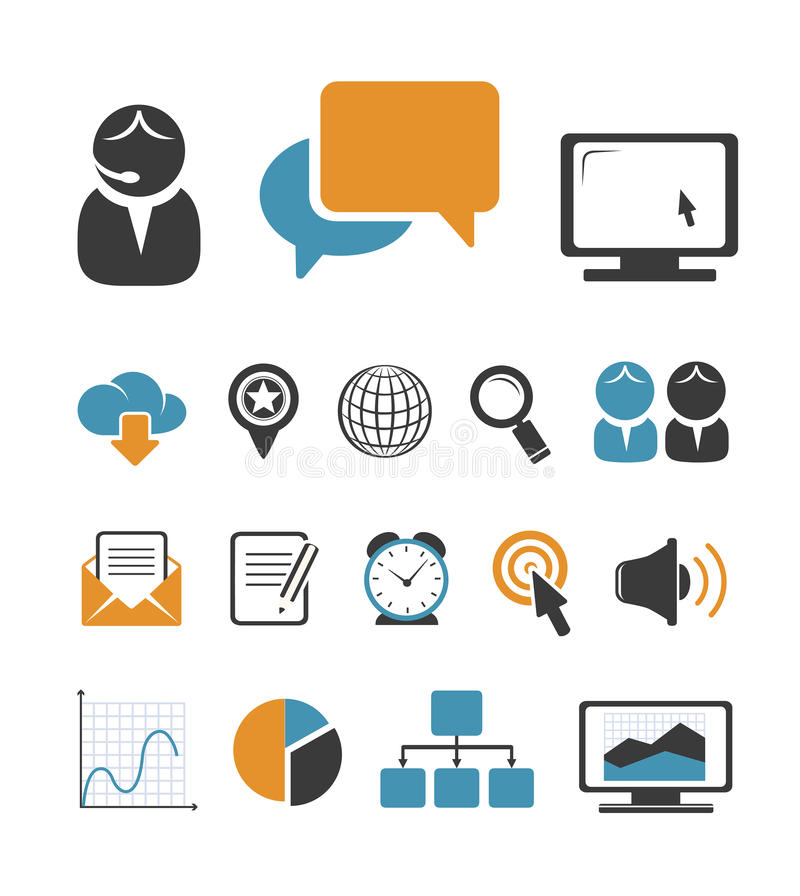 Download Business Icons Set Royalty Free Stock Photography - Image: 32305357