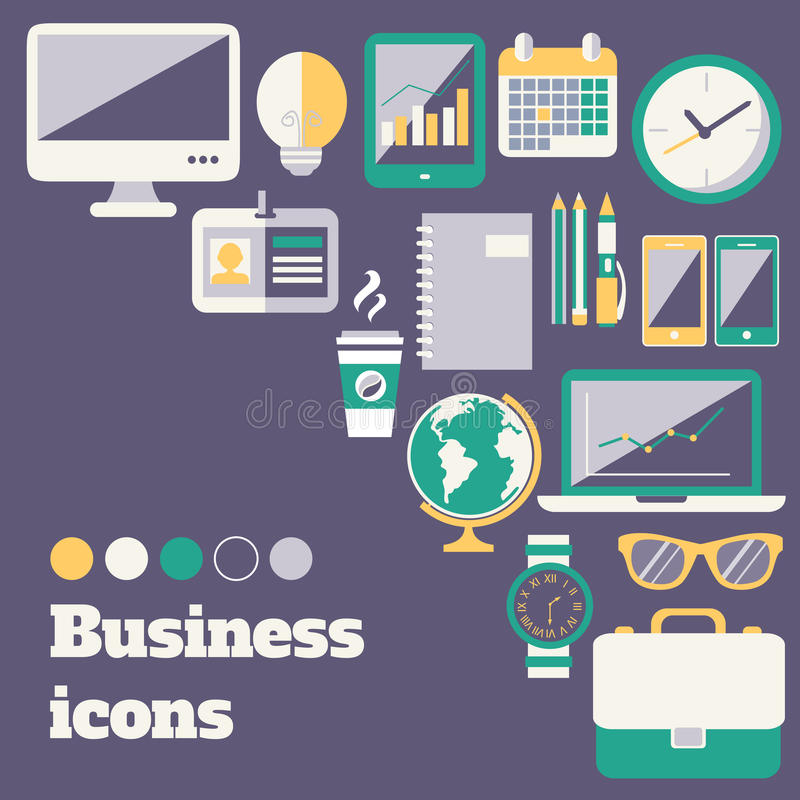 Download Business icons set stock vector. Illustration of album - 39502724