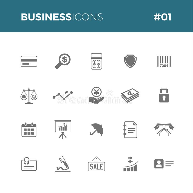 Business icons set #01 vector illustration