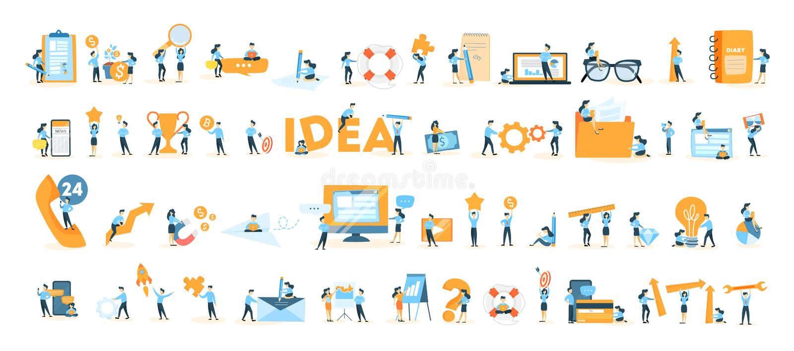 Business icons set. stock illustration