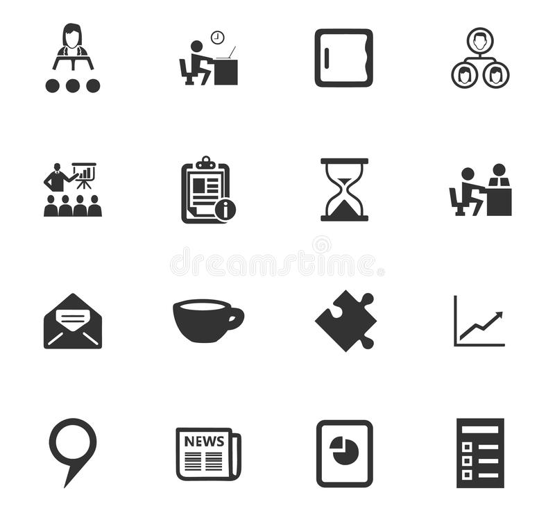 Business icons set. And symbols for web user interface stock illustration