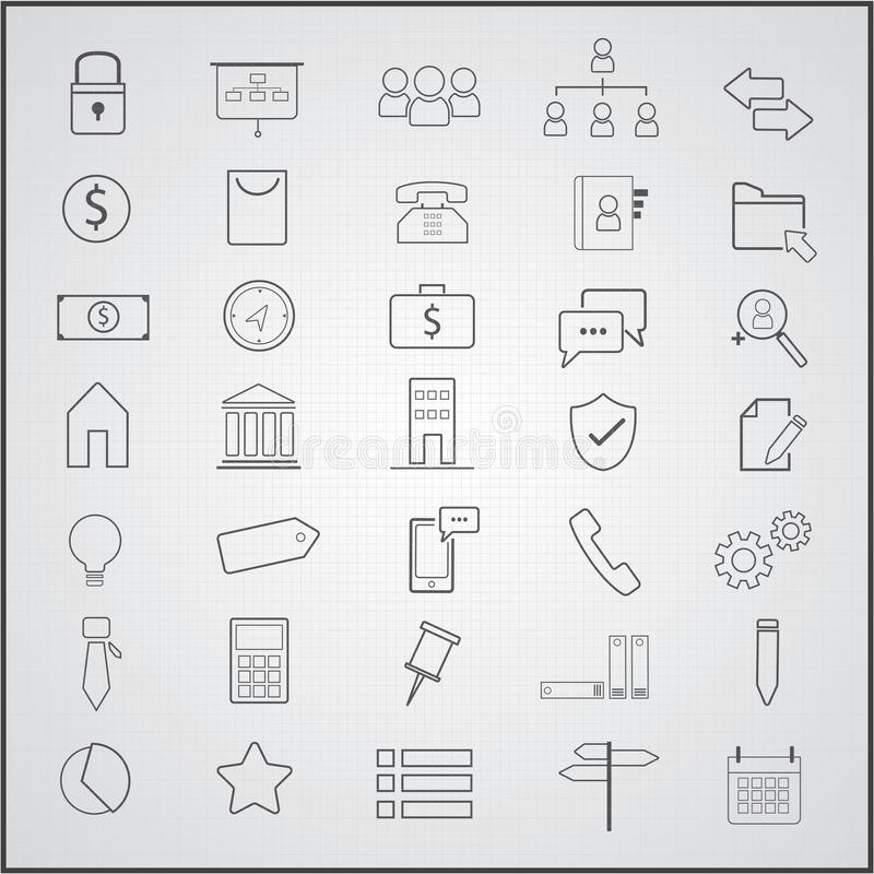 Business icons set. Business icons theme set vector illustration
