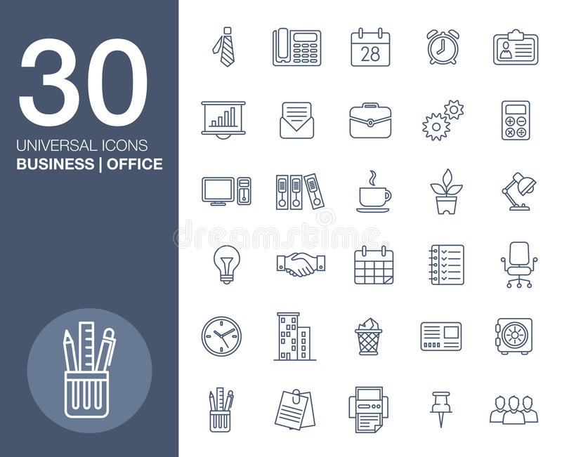 Business icons set.Vector illustration royalty free illustration