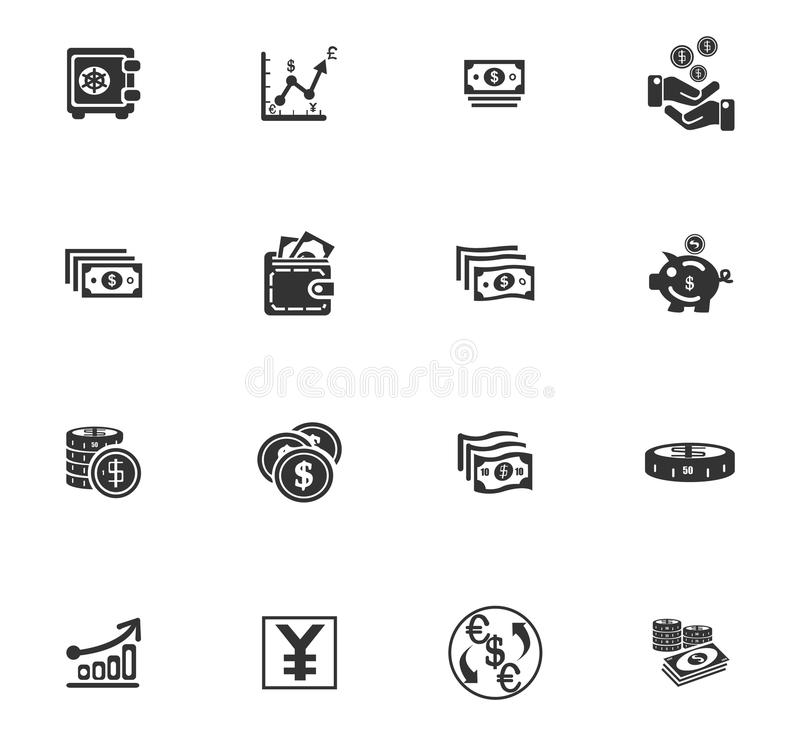 Business icons set royalty free illustration