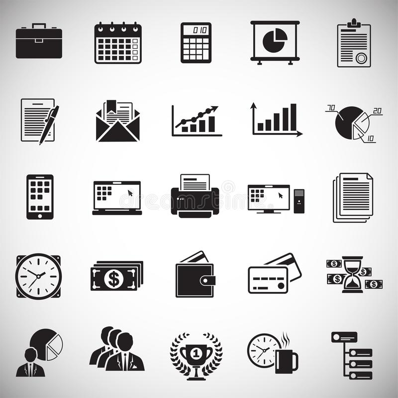 Business icons set on white background for graphic and web design, Modern simple vector sign. Internet concept. Trendy symbol for. Website design web button or vector illustration