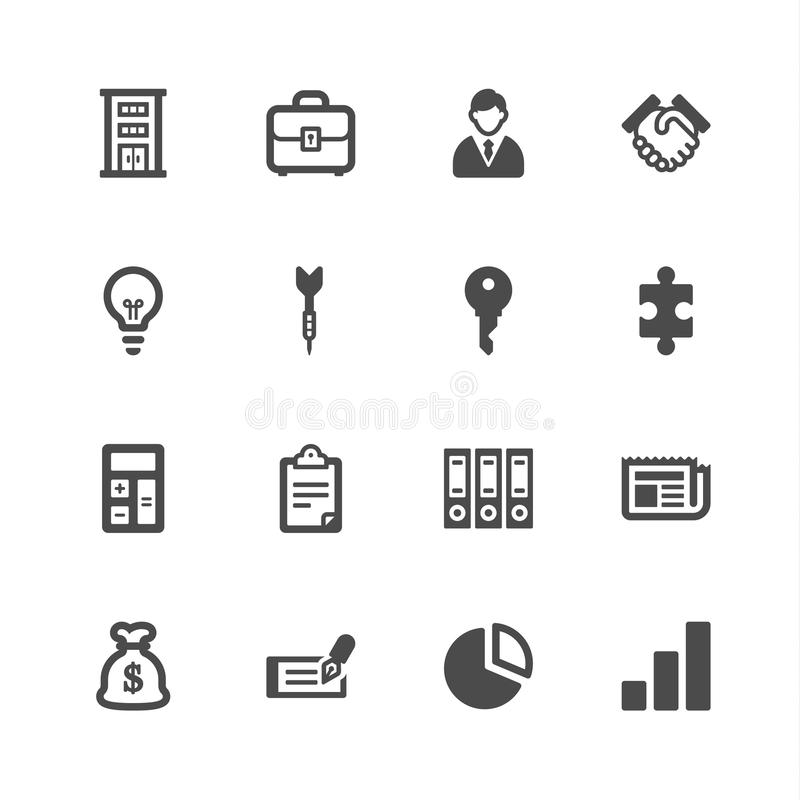 Business icons stock illustration