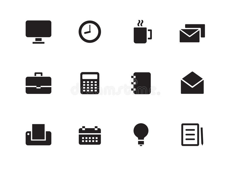 Download Business Icons On White Background. Stock Vector - Illustration: 33443867