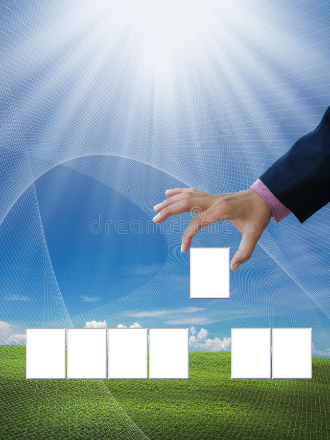 Business idea. Very attractive art work of business idea stock photo