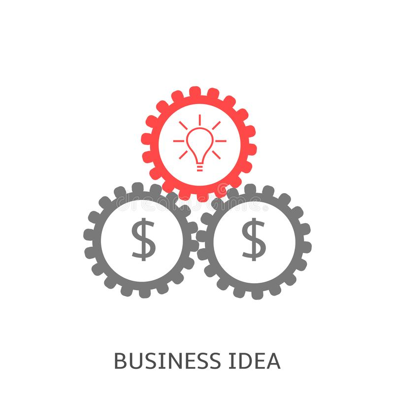 Business idea icon royalty free illustration