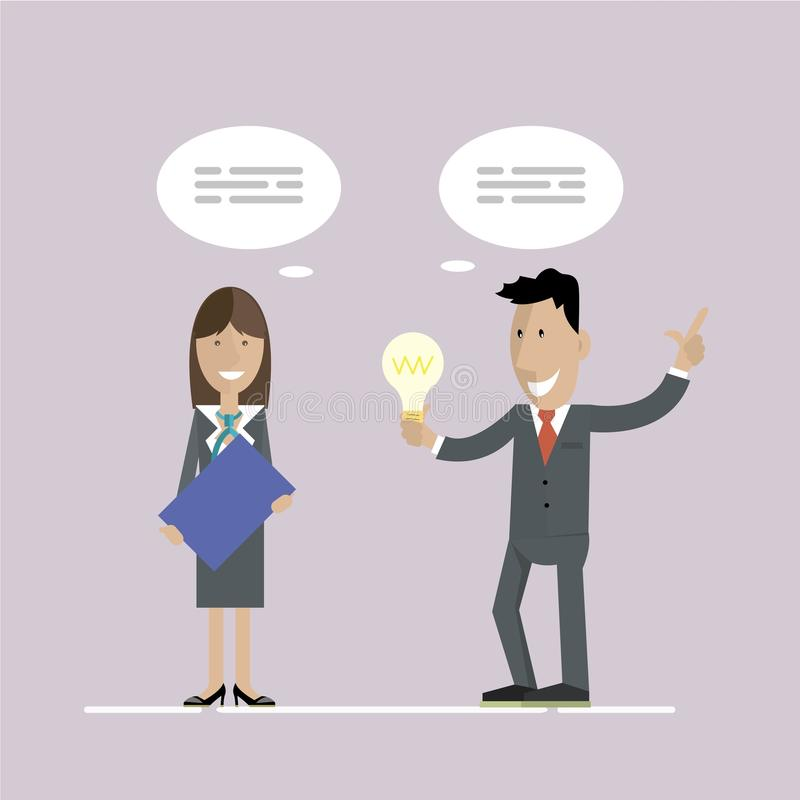 Business idea and concept royalty free illustration