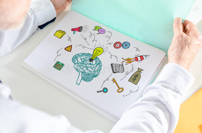 Business idea concept on a paper royalty free stock photos
