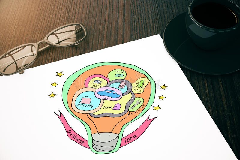 Business idea concept royalty free illustration