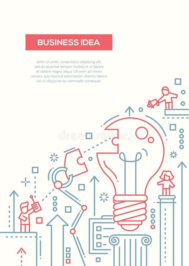 Business idea line design brochure poster template a4 stock vector download business idea line design brochure poster template a4 stock vector illustration of element fbccfo Choice Image