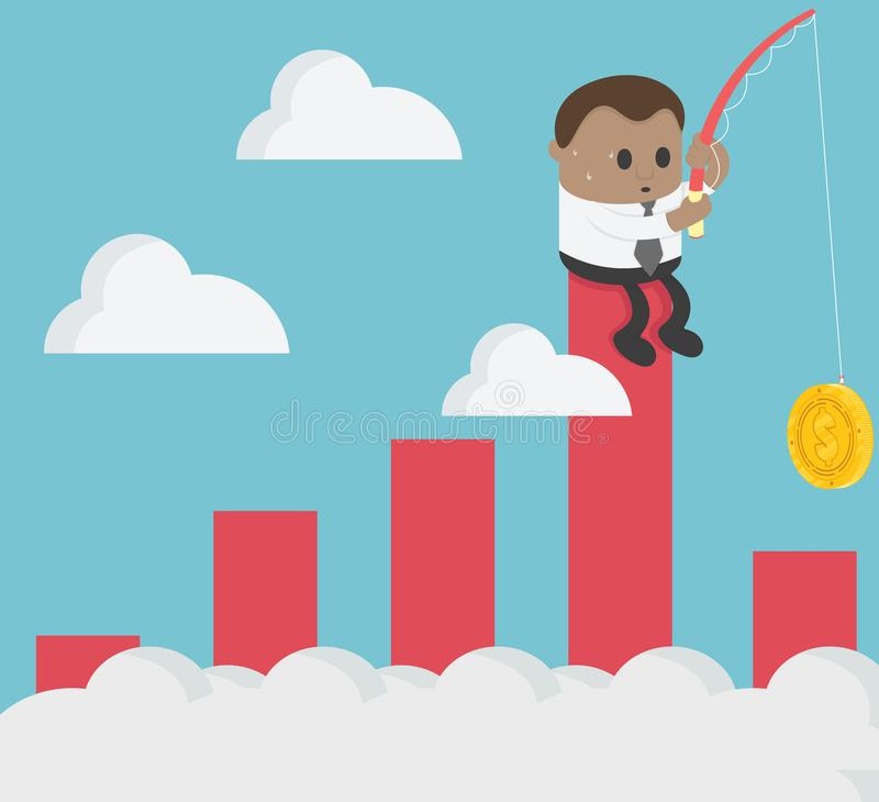 Business illustration concept business is failing, collapsing. V royalty free illustration