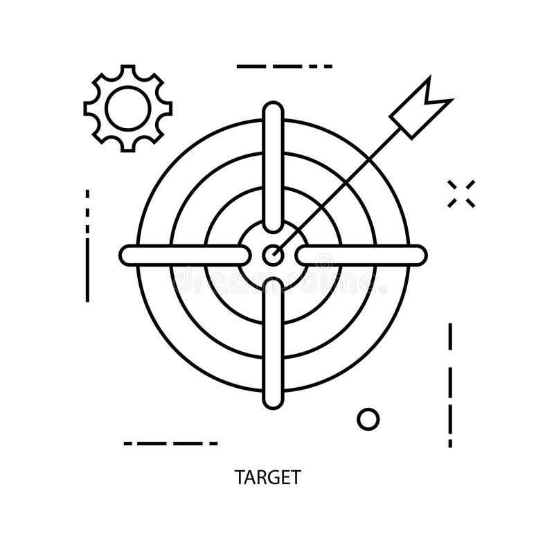 Target illustrator line Business icons stock image