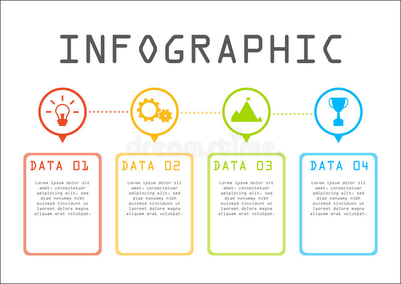 Business info graphic concept, time line, step by step royalty free stock images