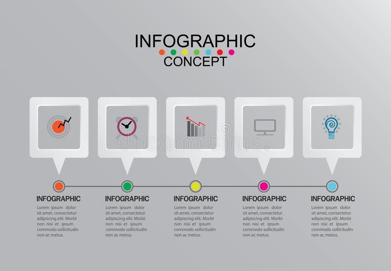 Business info graphic template Vector illustration graphic on stock photo