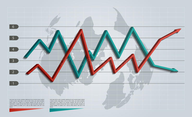 Business infographic arrow graph royalty free illustration