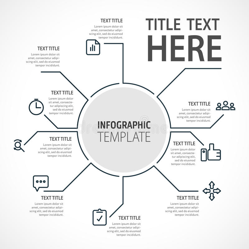 Business infographic concept - set of infographic elements in flat design style for presentation, booklet, website. Vector royalty free illustration