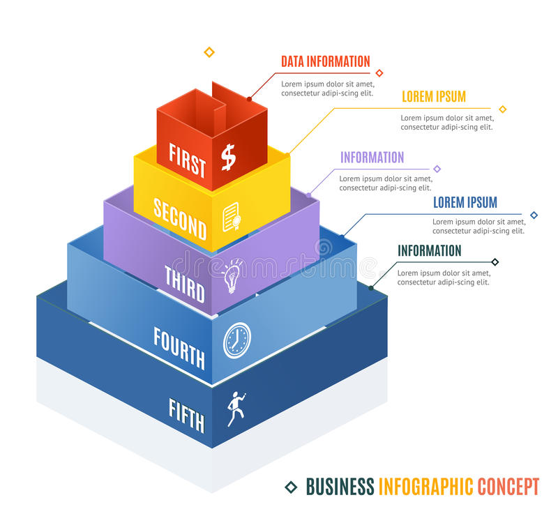 Business Infographic Concept. Vector royalty free illustration