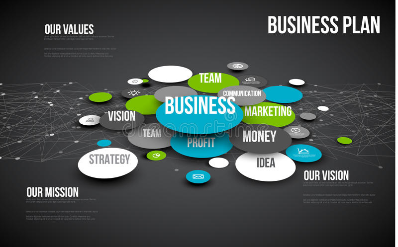 Business infographic diagram royalty free illustration