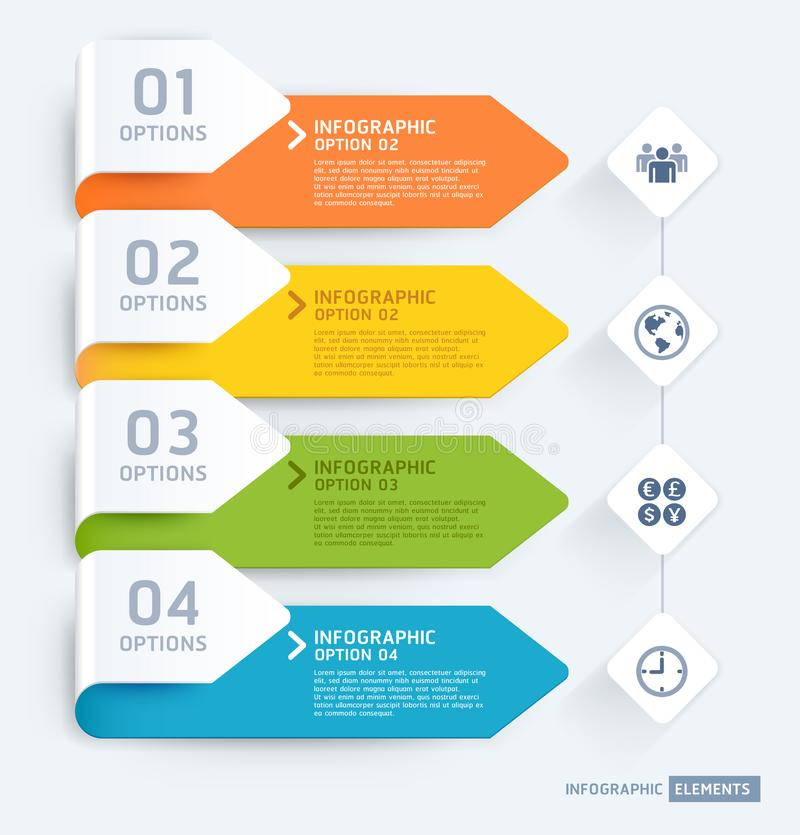 Business infographic elements template. Vector illustrations. Can be used for workflow layout, banner, diagram, number options,. Web design, timeline template royalty free illustration