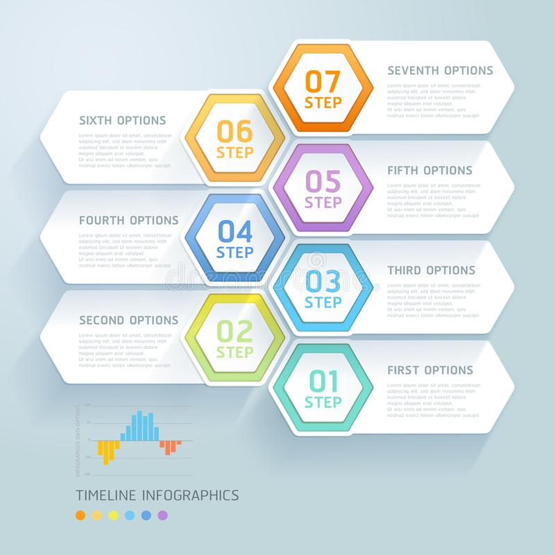 Business infographic elements template. Vector illustrations. Can be used for workflow layout, banner, diagram, we. Business infographic elements template royalty free illustration