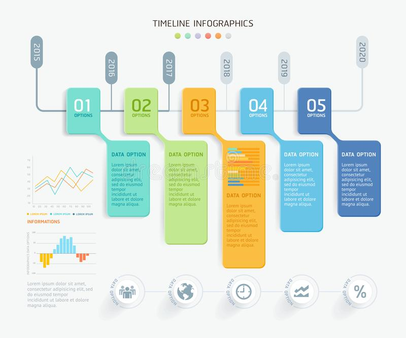 Business infographic elements template. Vector illustrations. Can be used for workflow layout, banner, diagram. Number options, web design, timeline template vector illustration