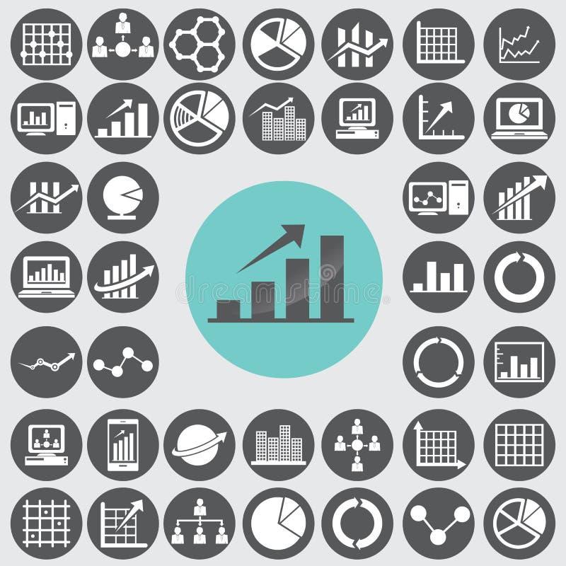 Business infographic icons set. Illustration eps10 stock illustration