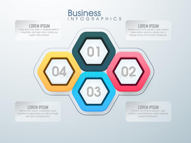 Business Infographic layout with colorful elements. Creative Business Infographic layout with colorful elements for your professional reports and presentation vector illustration