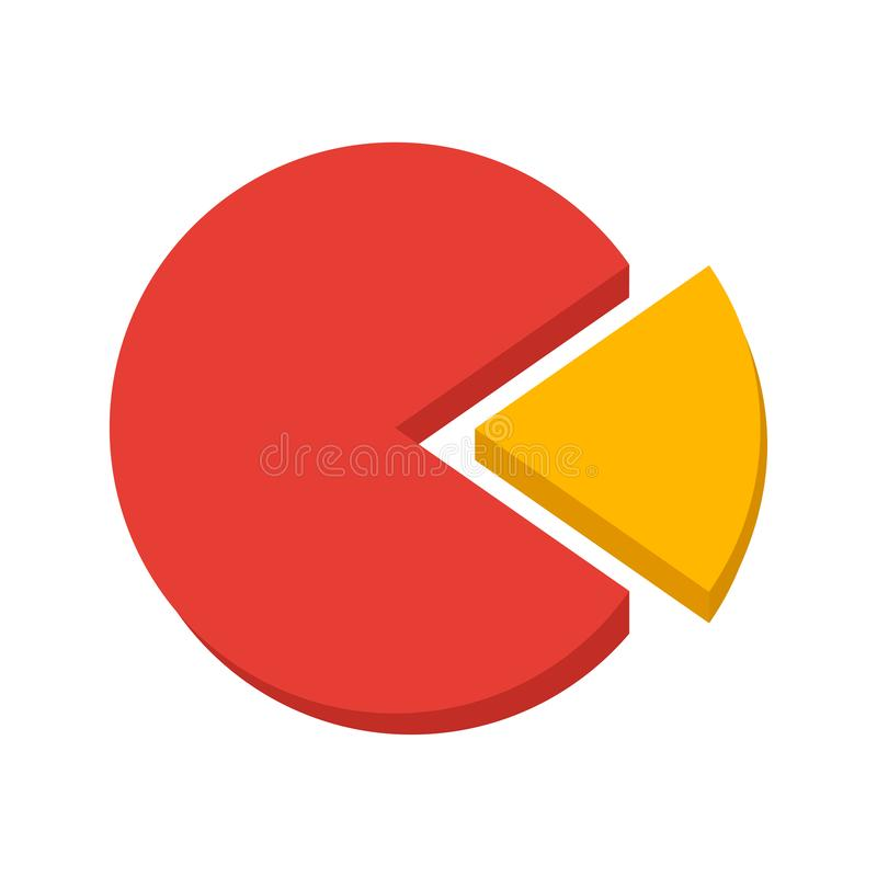 Business infographic, part of the whole, colored pie chart. Vector. Illustration royalty free illustration