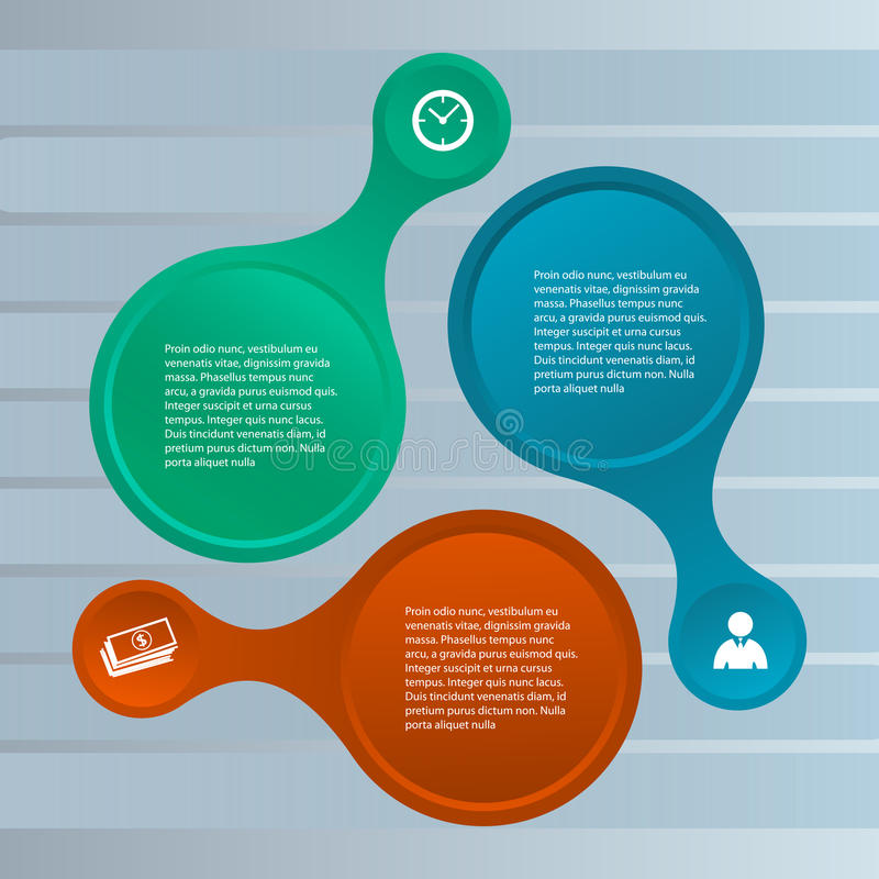 Business infographic presentation template rounded shape royalty free illustration