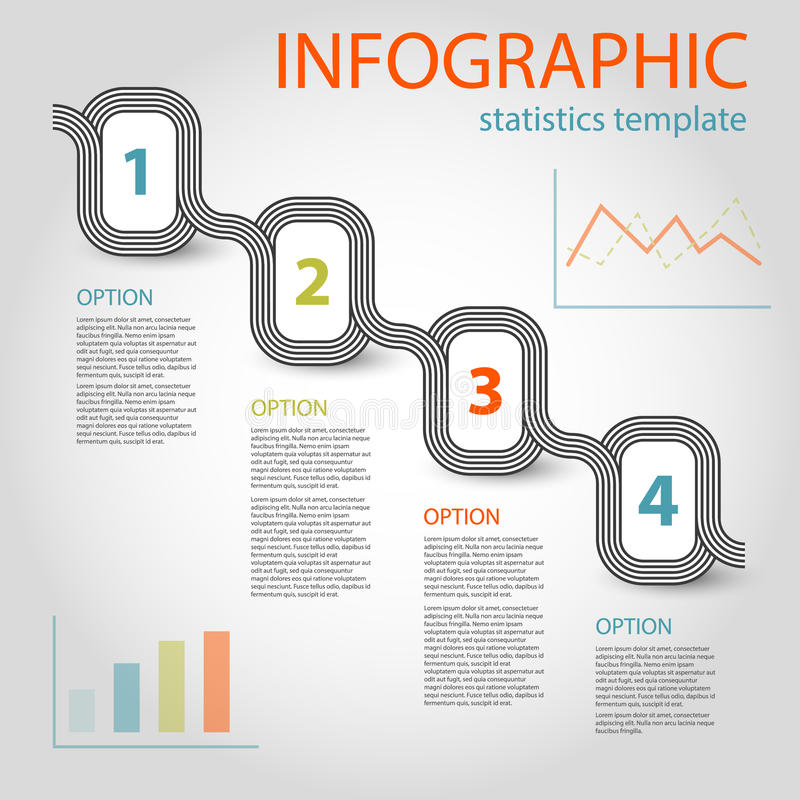 Business Infographic  Steps Timeline Template Stock Vector