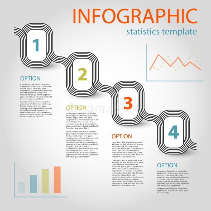Business infographic 4 steps timeline template vector illustration