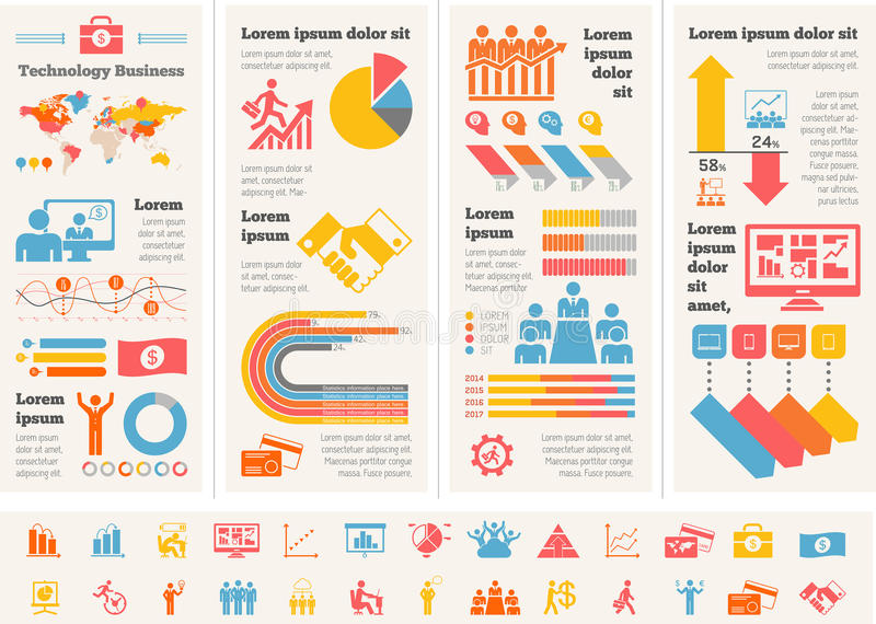 Business Infographic Template. Flat Business Infographic Elements plus Icon Set