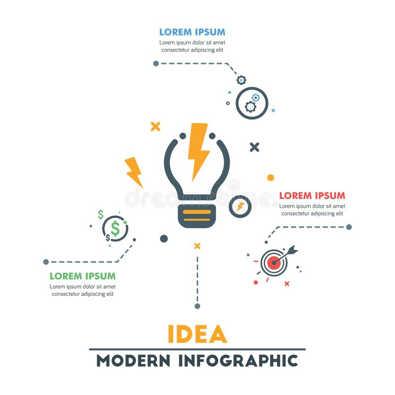 Business Infographic Template.Modern Abstract Infographics Timel royalty free illustration