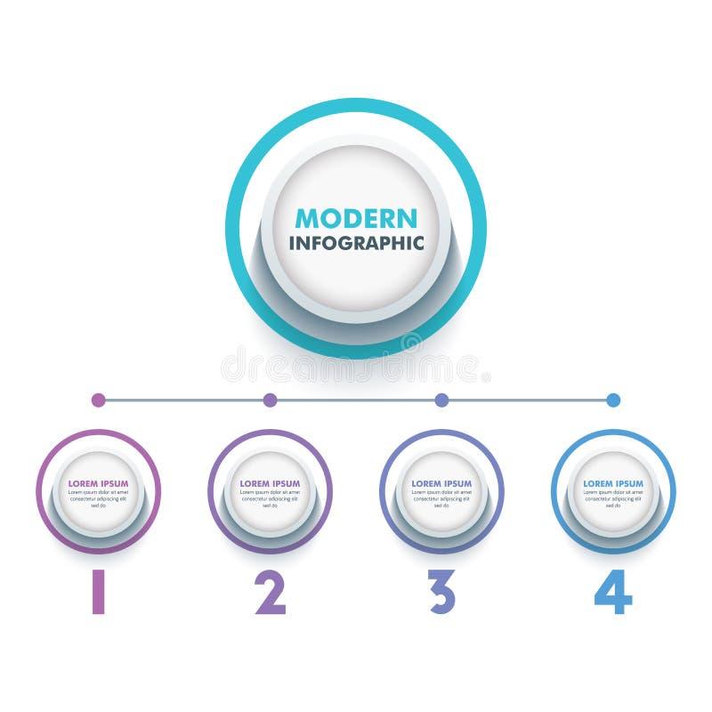 Business Infographic Template.Modern Infographics Timeline Design Template.Vector Illustration stock illustration