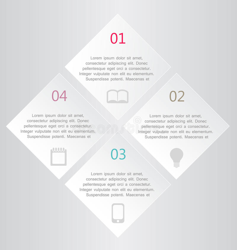 Business infographic template for presentation, education, web design, banner, brochure, flyer. royalty free illustration