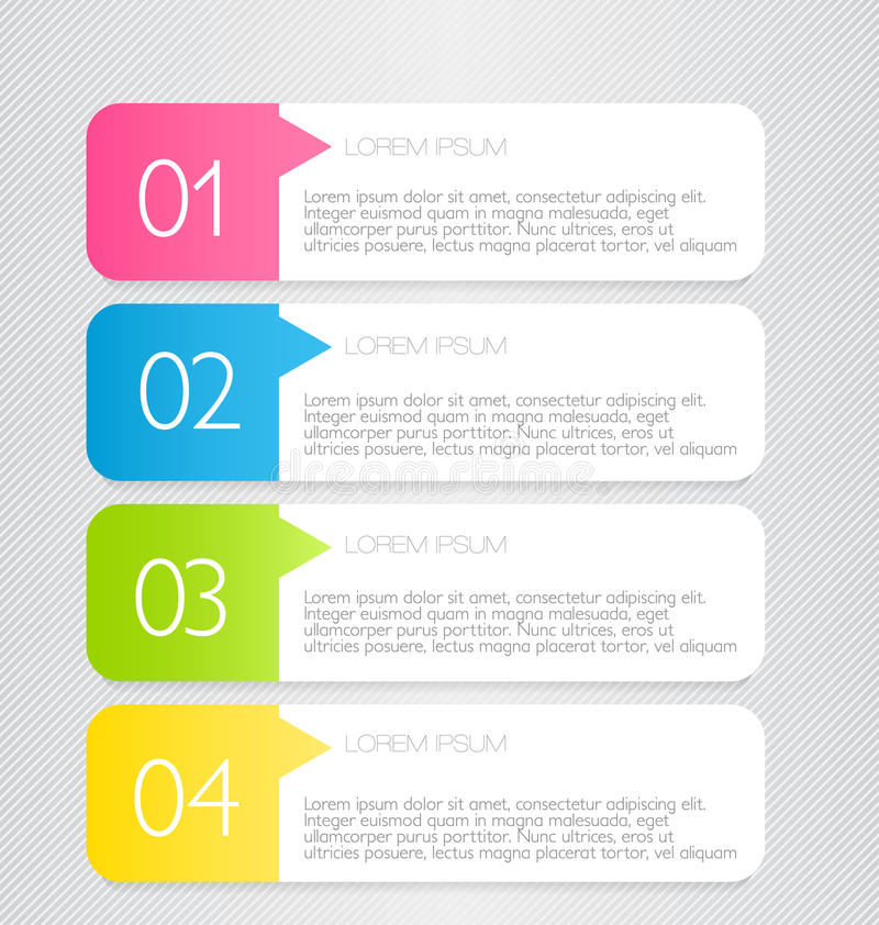 Business infographic template for presentation, education, web design, banner, brochure, flyer. stock illustration