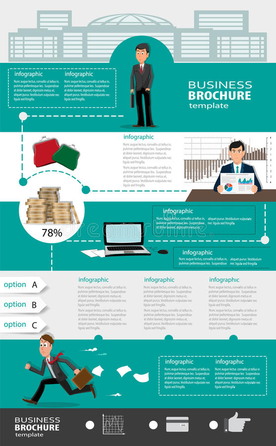 Business Infographic Templates With People Stock Vector ...