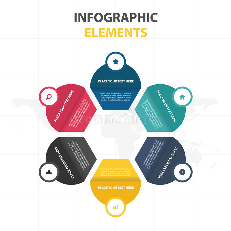 Business Infographic timeline process template, Colorful Banner text box desgin for presentation, presentation for workflow. Diagram design royalty free illustration
