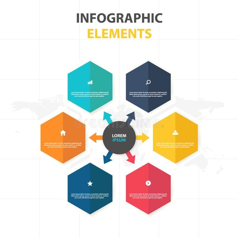 Business Infographic timeline process template, Colorful Banner text box desgin for presentation, presentation for workflow. Diagram design royalty free illustration
