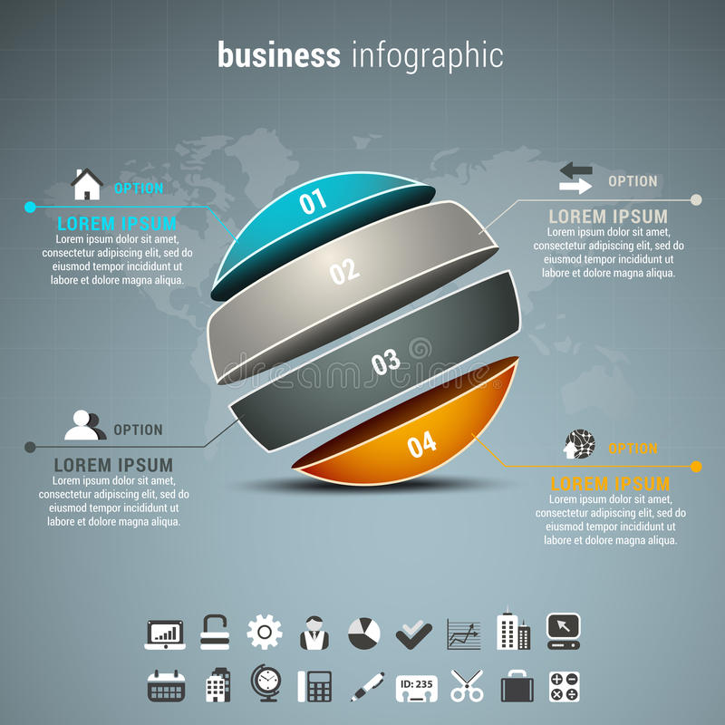 Business infographic vector illustration