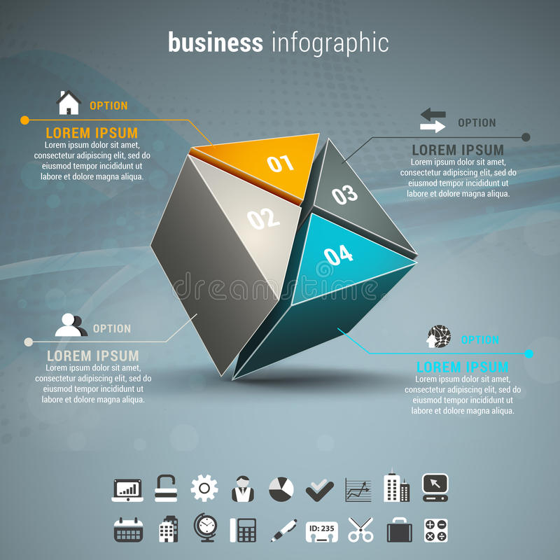 Business infographic royalty free illustration