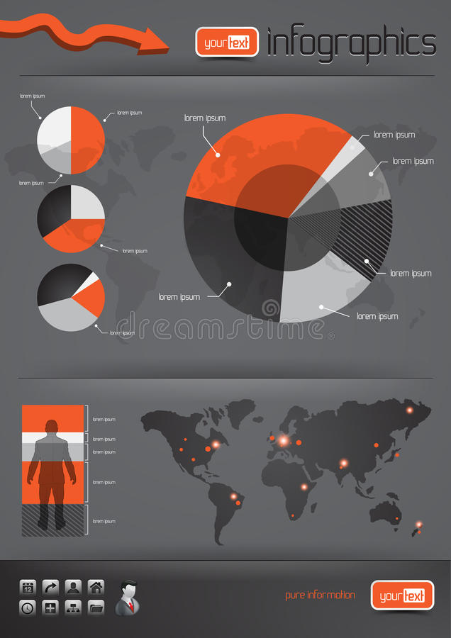Business Infographics. And charts. Vector illustration