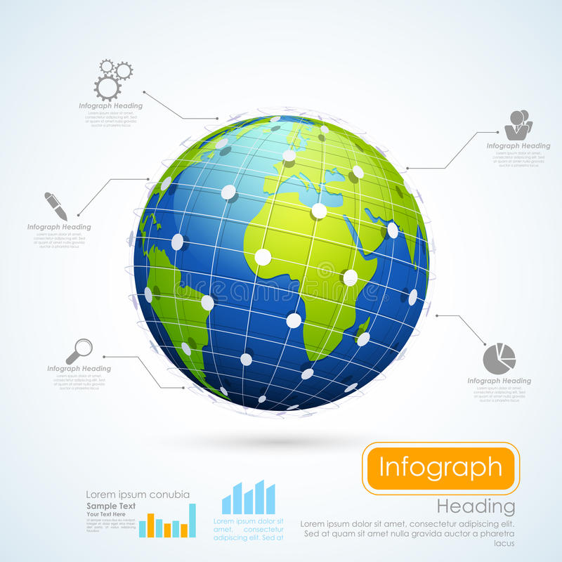 Business Infographics Chart royalty free illustration