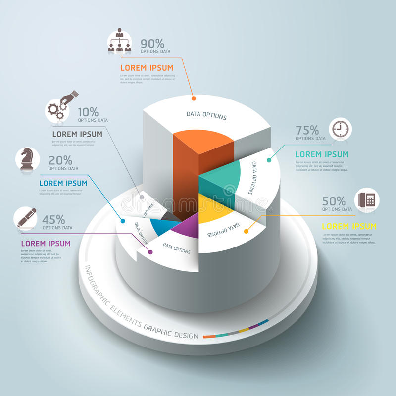 Business Infographics circle graph. royalty free illustration