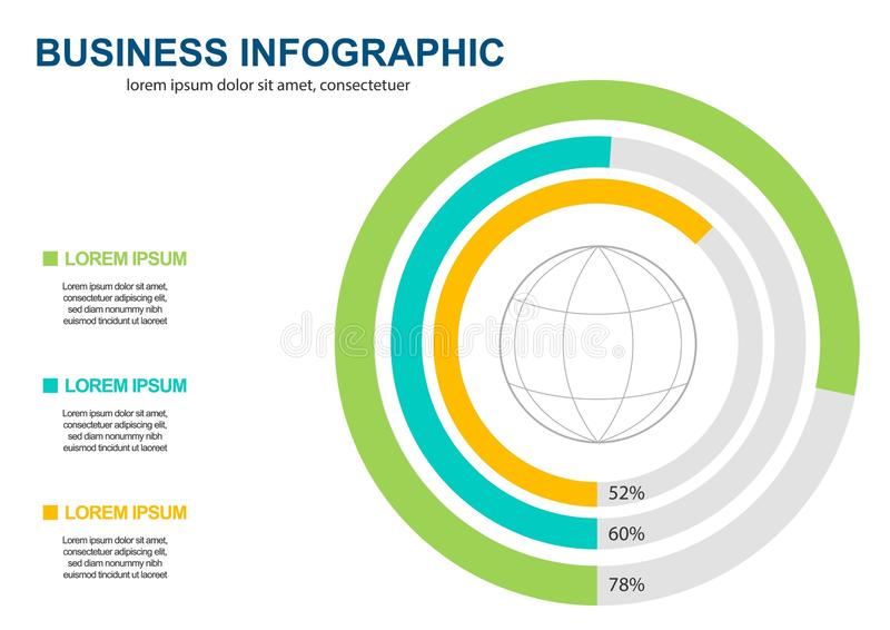 Business Infographics circle origami style Vector illustration. can be used for workflow layout, banner, diagram, number options, vector illustration